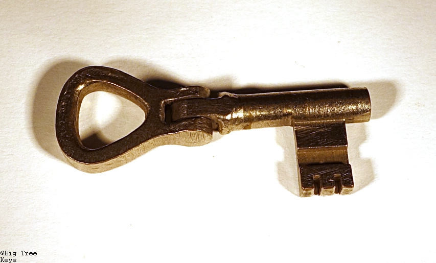 Antique Brass Pocket Door Key Key 13b - Keys Archives - Big Tree Keys